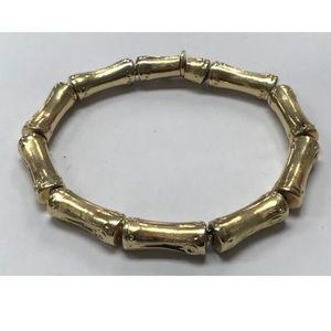 Vintage Heavy 14K Gold BAMBOO Link BRACELET